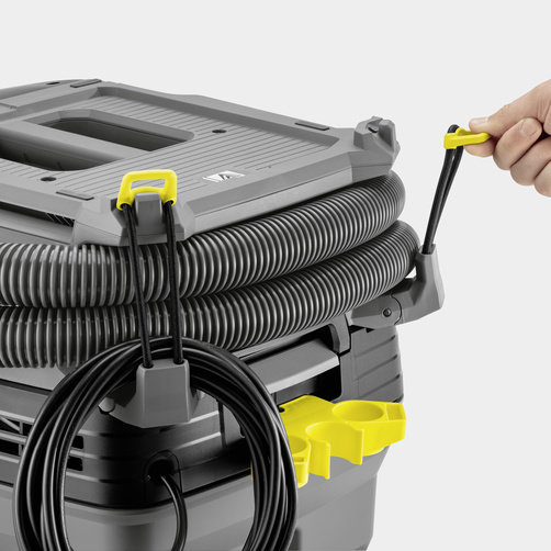 Flexible hose and power cable storage